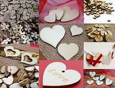 Basteln Streudeko Holz Herz Tisch  Hochzeit Dekoherzen Liebe Love Frau