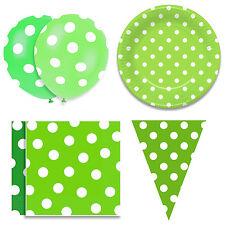 Verde partido lunares placas de papel ACCS. Globos// Empavesado/Servilletas. elija