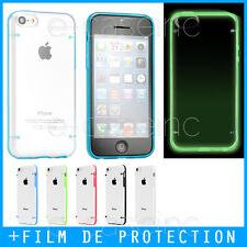 Coque Case Bumper pour iPhone 5C Luminous Crystal Plexi Fluorescent/ Glow + Film