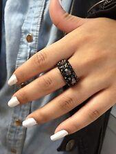 Dolce Jewels A71- 30  Swarovski Elements Crystal Acrylic Statement Ring