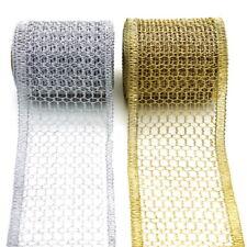 Gitterband, Tischband, gold/silber, 120mm 5 Meter Edel !!!
