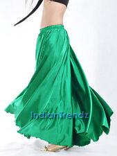 Green - 360 Full Circle Satin Long Skirt Swing Belly Dance Costume Tribal