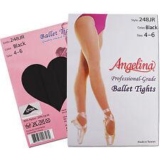 NEW TAN/PINK/BLACK Professional-Grade Ballet Dance Tights Size 4-14 Girls/Teens