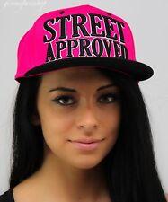 Fresh Rosa Street Danza Niñas Snapback Tapas, Bling Sombreros de Béisbol Hip Hop Urbano