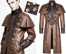 Manteau cape dandy steampunk gothique baroque cuir broderie bronze Punkrave Homm