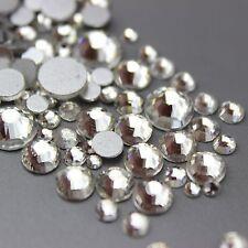 Assorted Sizes Clear Glass Rhinestone No-Hotfix Nails Decoration AVANT CRYSTAL