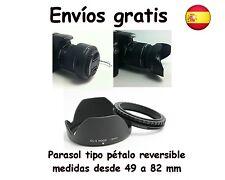 PARASOL PETALO ROSCADO Y REVERSIBLE DIAMETROS 49 52 55 58 62 67 72 77 MM