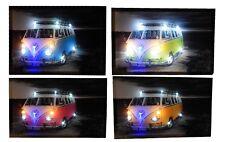 T1 T2 T3 Vw Bulli Bus Bild leinwandbild Leuchtbild LED-Leucht digitalen Druck
