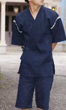 Japanese JINBEI Men's Summer Kimono wear Topps Half Pants from JAPAN #8 Navy