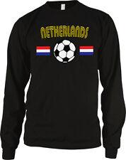 Netherlands Flag Soccer Ball Holland Nederlands Football Long Sleeve Thermal