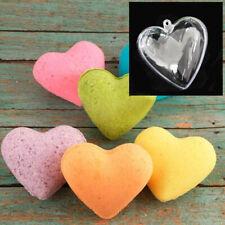65/80/100 mm Clear Plastic Bath Bomb Mould Acrylic Mould Heart Mold Shape L L2T8