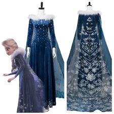 Frozen 2 Olaf's Frozen Adventure Elsa with Cloak Cosplay Costume Halloween Dress