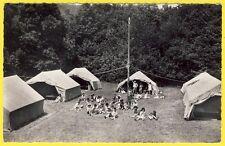 cpsm 01 - COLONIE de VACANCES du PRE JEANTET (Ain) CAMPING Tentes Campement