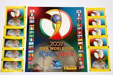 Panini WC WM Korea Japan 2002 – LEERALBUM EMPTY ALBUM + 10 Tüten packets sobres