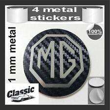 METAL STICKERS WHEELS CENTER CAPS CLASSIC Centro LLantas 4pcs MG ROVER  2 carbon