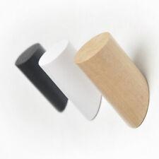 Solid Wooden Wall Peg With Screw Coat Towel Rack Hook Bag Hanger Holder Decor