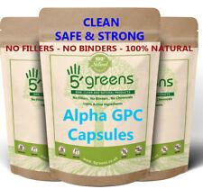 Alpha 50% GPC 600mg Capsules , Effective & Clean Veg Caps Sleep Brian Memory