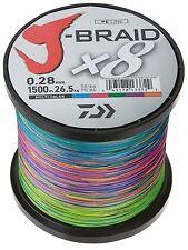 Daiwa J- Braid X8, multicolor, 1500m - rund geflochtene Angelschnur