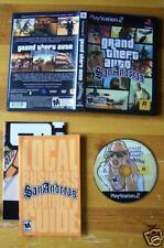 Grand Theft Auto San Andreas PS2 Hot coffee X version! + Bonus CD Map Box Book