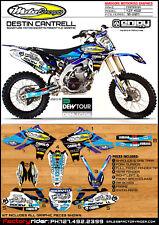 Moto C  Yamaha Motocross Graphics  YZF 450 2010-2013 Dirt Bike Graphics DECO