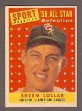 1958 Topps #491 Sherm Lollar All Star /WHITE SOX/ EXMT