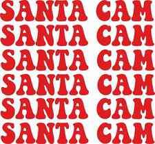6 X Babbo Natale CAM ADESIVI NINNOLI vetro Xmas Childrens Novità Regalo