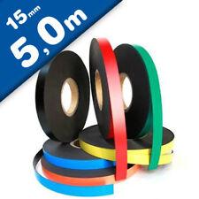 Cinta magnética de colores 0,85mm x  15mm x 5m - rollo