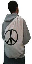 Peace Sign Baja Duffle Yoga Bag Back Pack Beach Natural 100% Cotton New