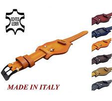 Vintage Italy Echt Leder Uhrband 20mm,22mm,24mm Uhrenarmband Leather Watch Strap