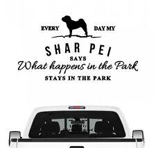 Shar Pei Vintage Hundeaufkleber Hundemotiv Folie Faltenhund Chinese