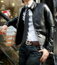 Men Leather Jacket 100% Genuine Lambskin Slim Fit Biker Jacket MJ# 846