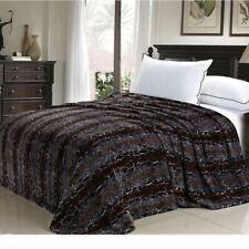 Brown Tan Snake Skin Animal Print Safari Warm Fleece Blanket Twin Queen Size Bed