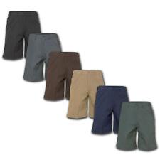 Men's Work Shorts 4 Pocket Cotton Blend Uniform Elastic Waistband Many Colors