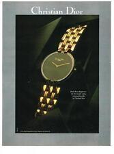 PUBLICITE ADVERTISING   1991    DIOR   boutique montres