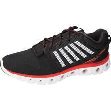 K-SWISS Men's X Lite Comfort Memory Foam Black/Fiery Red Athletic Shoe