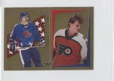 1986 O-Pee-Chee Album Stickers 127 Pelle Eklund Michel Goulet Rookie Hockey Card