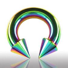 2,5mm Regenbogen Hufeisen Ring Circular Barbell Spitze Intim Piercing