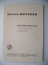 Rotax-Motoren Ersatzteile-Liste Nr. 22 ab Modell 1963 Rotax Motoren