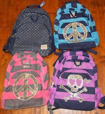 Girl's Old Navy Fashion Sparkle Bookbag Backpack Travel School Peace Polka Dot