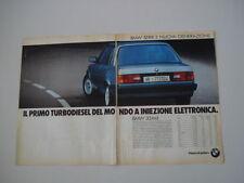 advertising Pubblicità 1987 BMW 324 TD