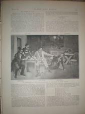 Billete de juego de dejar hombre por los guardias cuartel de impresión de edad 1893 a Chelsea