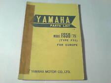 Ersatzteilliste / Spare Parts List Yamaha FS 50 / FS50 '75 Stand 10/1974