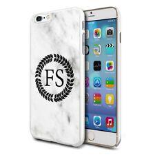 personnalisé marbre étui de téléphone pour apple Samsung Initiale Texte Nom - 28