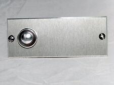 Klingelplatte,Klingeltaster Aluminium Edelstahloptik + ihrer  Gravur