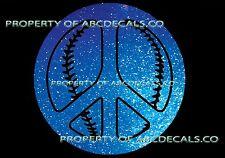 PEACE Sign Love Baseball Softball Ball CAR DECAL METAL STICKER