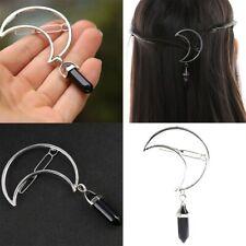 Pendant Clamp Hair Clip Moon Shape Hairpin Barrette