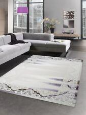 Carpet tapis de laine ornements vintage crème pourpre