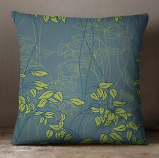 S4Sassy des feuilles décoratives gris foncé imprimé taie d'oreiller Throw