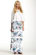 Liberty Garden Lovely White Floral Print Maxi Skirt XS S NWT 4BOT4001