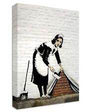 BANKSY Maid en Londres Lona | Gran Pared Art | impresión calle Policía Mujer limpia